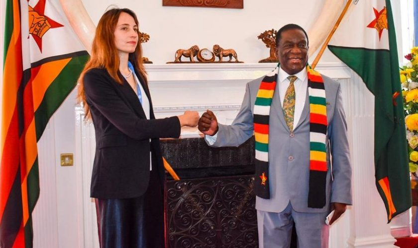 President Mnangagwa with UN Special Rapporteur Alena Douhan
