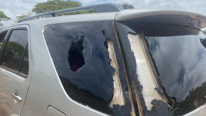 Nelson Chamisa battered car