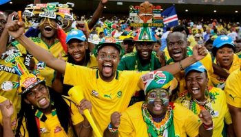 South Africa football supporters